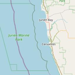 jurien bay map